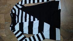 L.A.・ロンT・白×黒・ボーダー・パッチワーク好き