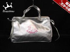 イルビゾンテ トートバッグ 美品 シルバー 40Anniversary レザー