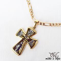 クロス フィガロ チェーン 金 ゴールド GOLD ネックレス 585