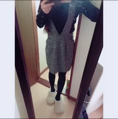 pageboy☆サロペットツイードスカート
