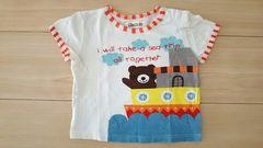 ピッコロ piccolo キムラタン 半袖Tシャツ サイズ80 バックプリント有 クリーム色