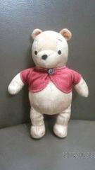 値下げ☆サマンサタバサ くまのプーさん バッグチャーム ベージュ地×赤ベスト