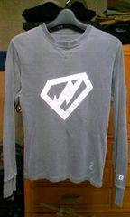 ネイバーフッド ユーズド加工 長袖Tシャツ ロンT Sサイズ 細身タイト グレー灰色 ロック