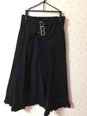 BODY LINE 黒 マント風スカート