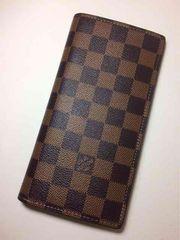 Louis  Vuitton ダミエ 二つ折り 長財布 ブラザ