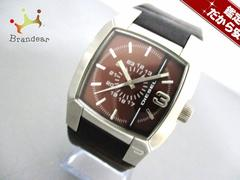 DIESEL(ディーゼル) 腕時計 DZ-1090 メンズ 革ベルト ブラウン