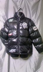 ワッペン付き 中綿 ダウン ジャケット M ブラック 未使用品 アメカジ