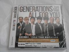 GENERATIONS        ALL FOR YOU       DVD付  未開封