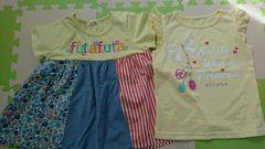 120女の子夏チュニック&袖なしTシャツ
