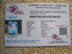 ◆天然宝石(ルース)裸石◆トパーズ◆ 48.00ct/GGL証書480