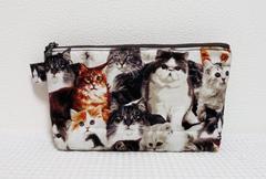 ◆猫猫猫クラシカルキャット◆猫の集い◆ファスナーポーチ