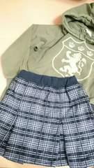 姉妹お揃いスカート 140cm(妹80cm)