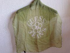 GUESSゲス緑色グリーンカーキスカーフ