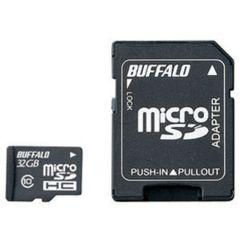 バッファローClass10 microSDHCカード SD変換アダプター付 32GB