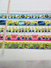 22-25mm巾 ミニオンリボン5種類セット