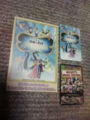 [非売品] ディズニーオンアイスポストカード&カード