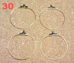 ワイヤーフープ30�o4個マットゴールド