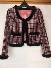 N2m ピンキーガール 可愛いジャケット M ピンク×黒