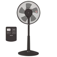 山善 30cmリビング扇風機 (リモコン)色: ブラック