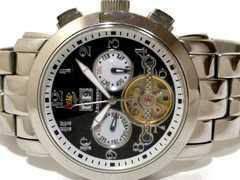 良品 1スタ★J.HARRISON【自動巻き】3カレンダー メンズ腕時計