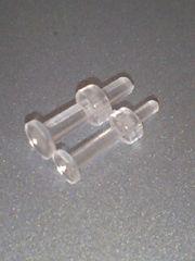 カンタン安全確実に14G→10G迄拡張透明樹脂ピアス2個セット