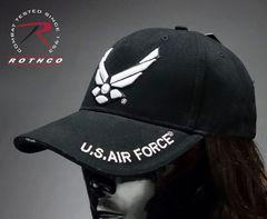 米空軍オフィシャルROTHCO社エアフォースベースボールキャップ黒