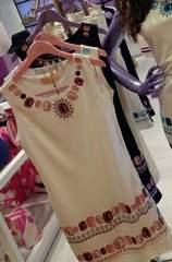 Rady☆ビジュープリント☆ノースリーブワンピ☆ホワイト×ピンク☆S☆新品タグ付き