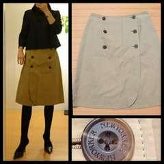 ニューヨーカー☆1点物 大人casual トレンチスカート 11