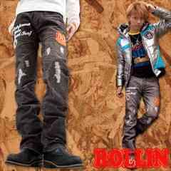 Rollin(ローリン)佐藤歩着ワッペンコーデュロイパンツ/M