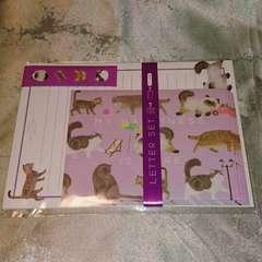 新品 即決 猫  色々 レターセット 猫柄 トラネコ ねこ ネコ 文具