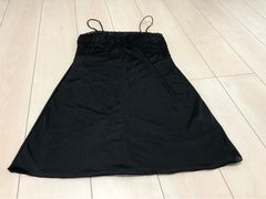 真っ黒  スリップドレス  ペチコート  Mサイズ