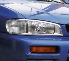 スバル メッキヘッドライトリング インプレッサ