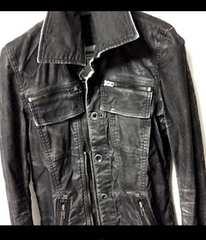 LGBムラ染めコーティング加工変形ジャケット Gジャン デニム
