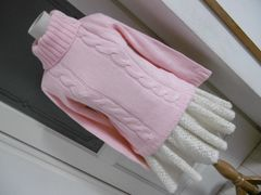 【新品】ボタン付ピンクの可愛いハイネックセーターM★☆