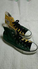 ◆24.5�p◆コンバース◆ALL STAR◆スニーカー◆ハイカット◆緑・黄◆