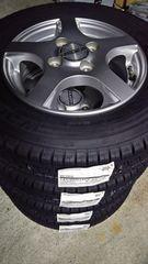 145/80R12 LT    スタッドレス、アルミホイール付4本セット