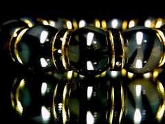 即決価格!!黒龍紋石ドラゴンアゲート14ミリ数珠ブレスレット