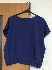 美品   GU  半袖 紺色  L