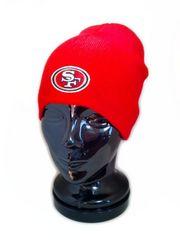 83ビーニーNFL サンフランシスコ 49ERS シンプル ニットキャップ