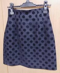 ルシェルブルードット柄 スカート 36サイズ