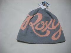 wb759 ROXY ロキシー ニット帽 ビーニー グレー