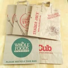 海外スーパーマーケット◆WHOLE  FOODS・TRADER JOE'S・cub◆紙袋5枚