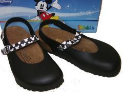 ビルケンシュトック ビルキ ディズニー ミッキーマウス黒リカ6