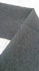 花簪半衿ざっくり着たい粋な半衿/憧れの沢村貞子風に・黒