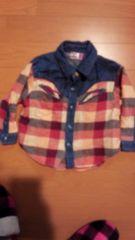 チェックシャツ☆90