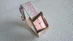 liebe リエベ ピンク色 婦人腕時計 新品未使用 アビステ ショップチャンネル