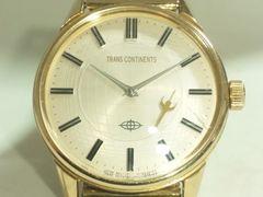 7711/トランスコンチネンツ★代表作シリーズゴールドモデルメンズ腕時計純正ブレス