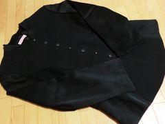ヒロココシノ/HIROKO BIS 異素材デザインジャケット(黒)