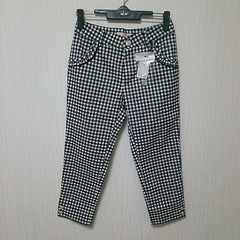 新品 ギンガムチェック 半端丈 パンツ ズボン W58