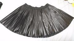 合皮スカート(黒)/大きいサイズ(8L)/美品